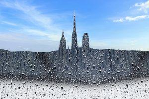 Rouen masqué pluie